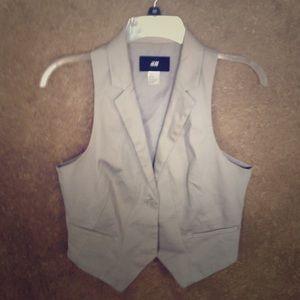 H & M Taupe Vest Size 8