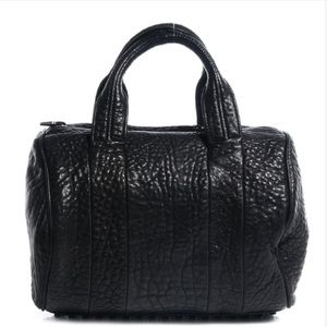 Alexander Wang Pebbled Lambskin Rocco in Black