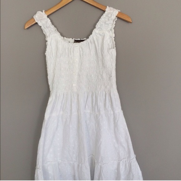 Speed control New York - Boho Vintage White Cotton Dress from ...