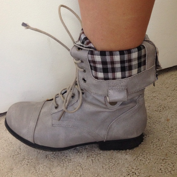 67% off Bamboo Boots - Cute grey combat boots from Sunshine's ...