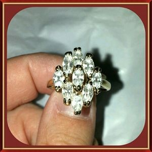 10K Gold Plated & CZ Ring