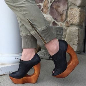 Jeffrey Campbell Shoes - 🆕Jeffrey Campbell Rockin Cut Out Wedge Bootie