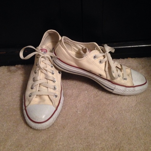 d389a17519da Converse Shoes - Cream Colored Converse