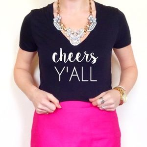 Cheers Y'all Pop Fizz Clink Champagne Tee Shirt