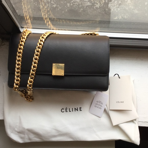35e01be8aa Celine Bags | Small Chain Box Shoulder Bag In Black | Poshmark