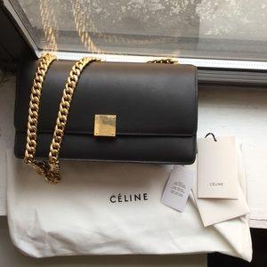 CELINE small chain box shoulder bag in black