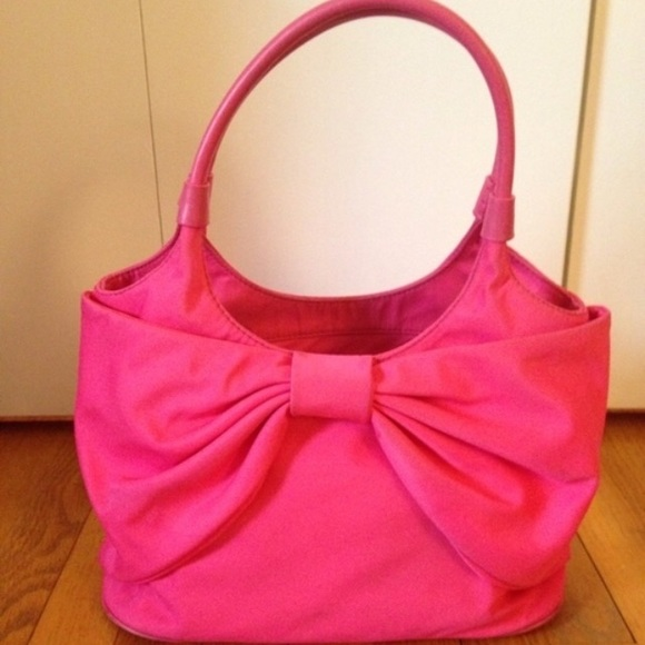 58% off kate spade Handbags - Kate spade pink bow bag from S's ...