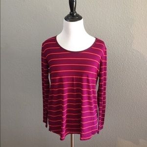 Anthropologie Bordeaux Striped Top