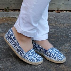 Merona Shoes - Blue Ikat Espadrille Flats