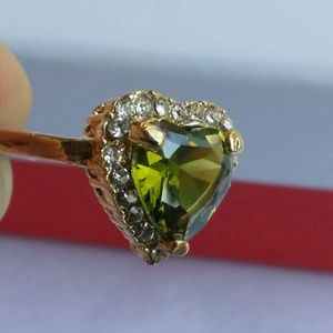 Heart Shaped Peridot Ring