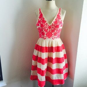 Anthropologie Azalea Stitched Dress