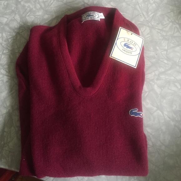 7c42d0d9519 Vintage izod Lacoste sweater maroon alligator
