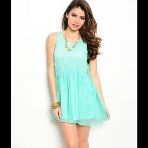 ZINGA Dresses & Skirts - Fashionable Mint lace Dress