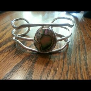 Jewelry - Handmade sterling silver and shell bracelet.