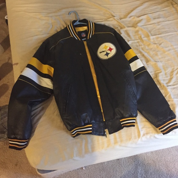 super popular 83e83 82345 Pittsburgh Steelers leather jacket