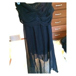 Dresses & Skirts - All black high low dress