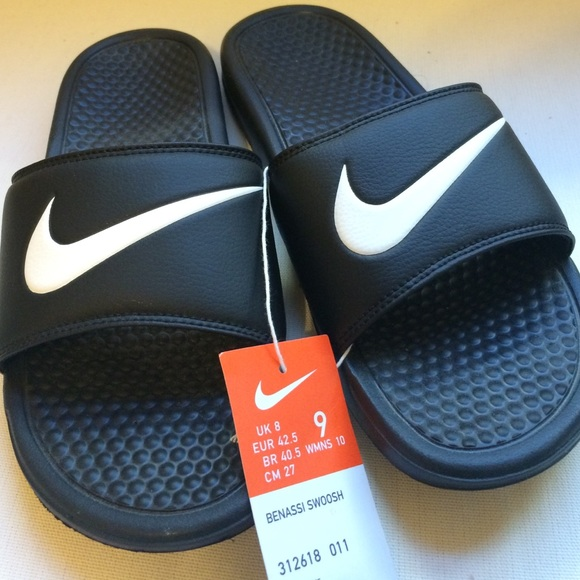 Nike Shoes - Nike Benassi Swoosh Sandals NWT