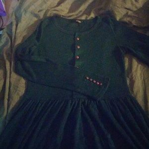 NWOT stretchy green wool blend midi/maxi dress