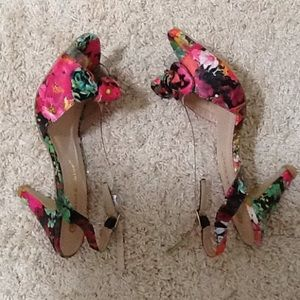 Chase and Chloe Shoes - Paris Floral Half D'Orsay