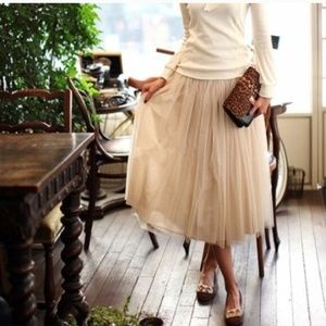 Beige Tulle Skirt 5 layers tulle