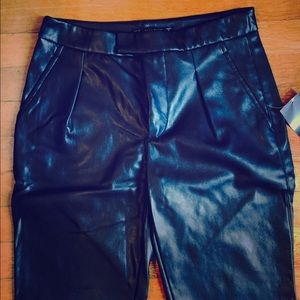 newest collection real quality for sale Zara high waisted black faux leather pants NWT