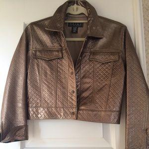 Cute leather crop jacket