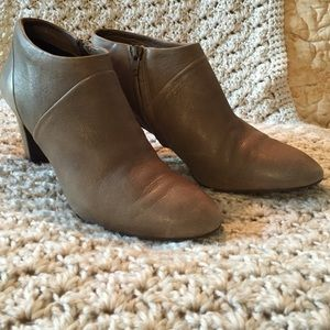 J.crew taupe ankle boots