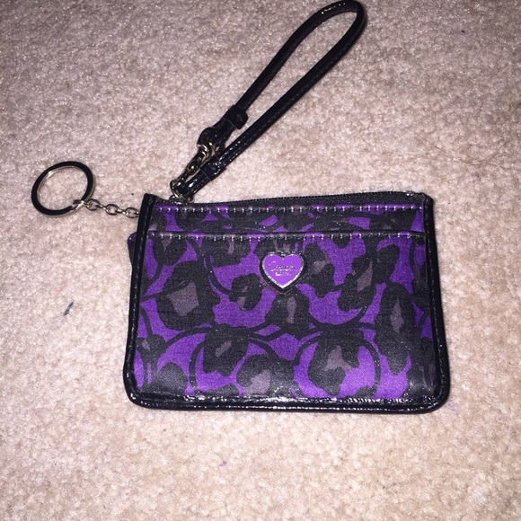0b447f191b discount girly mini coach bag with signature key chain 2eaf7 13c1a   official store coach small wristlet with key ring purple cheetah eb8ab 1aaf8