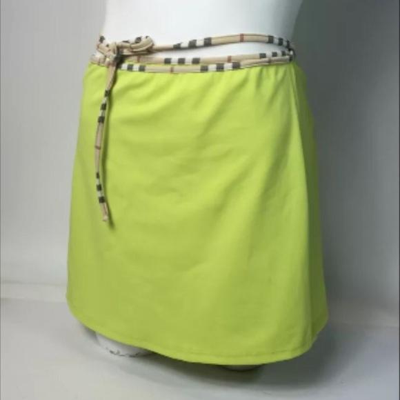4ed4765c4850 Burberry Jackets & Coats | Authentic Neon Green Swim Wrap Skirt Nwot ...