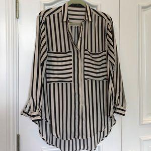Zara Striped long sleeve top