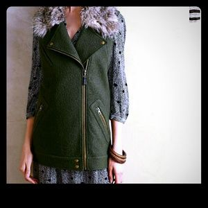 Anthropologie knitted  green vest