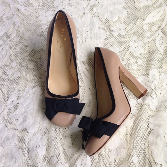 76% off kate spade Shoes - NWOT Nude with Black Bow Kate Spade ...