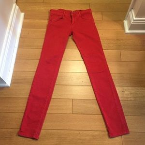 Cute red Zara jeans