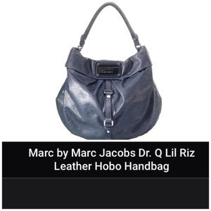 MBMJ Distressed Gray Leather Hobo