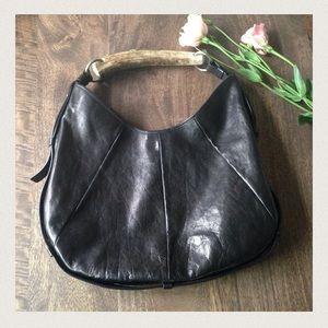 yves saint laurent leather horn handle mombasa bag