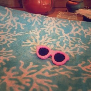 Vintage pink sunglasses pin