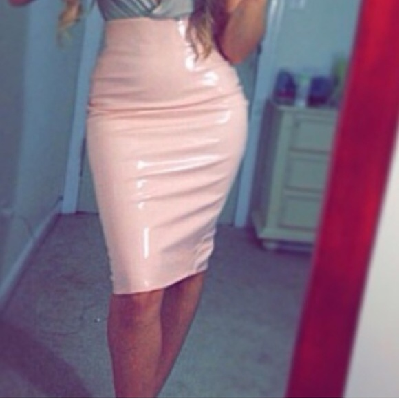 Missguided - Patent leather midi skirt from Chastity's closet on ...