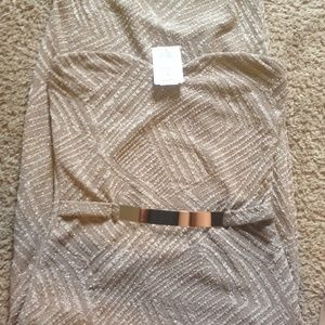 Gold dress from Windsor new never worn with tag
