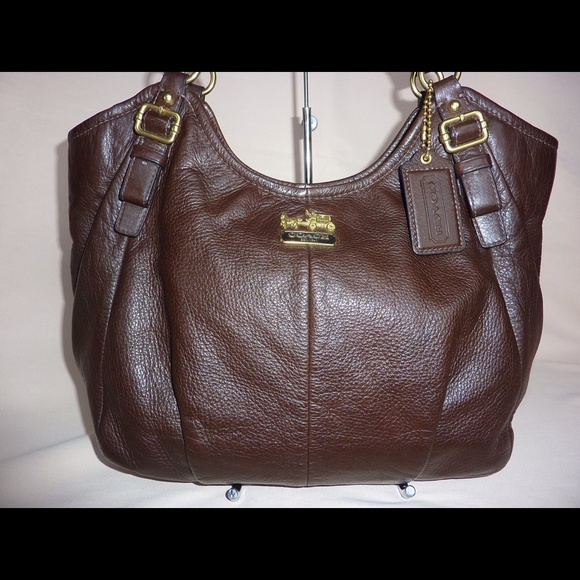 69e899b75c6 Coach Bags | Madison Brown Leather Bag Tote Purse 18612 | Poshmark
