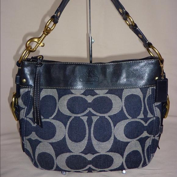 60% off Coach Handbags - *SOLD* COACH ZOE DENIM NAVY HOBO HANDBAG ...