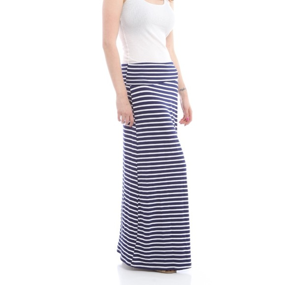 66% off Bold & Beautiful Dresses & Skirts - ☀ Navy Blue Striped ...