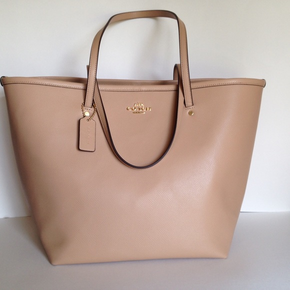 46% off Coach Handbags - SALE❤️NWT Coach Nude Lg Taxi Tote from ...
