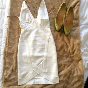 Herve Leger Dresses & Skirts - Authentic White Herve Leger Ari Dress size small