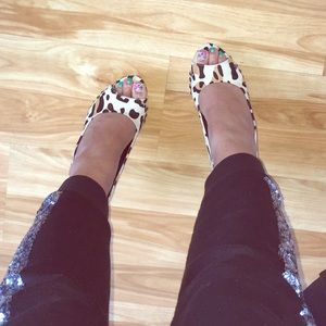 Shoes - Leopard Print Heels by FAHRENHEIT