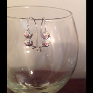 NWOT: Iridescent Silver Earrings FINAL REDUCTION