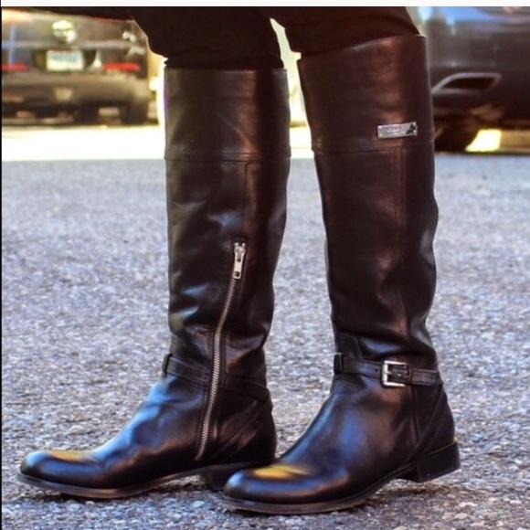 8e4113547ea Coach New authentic black leather micha boots NWT