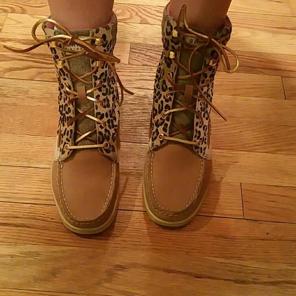 Sold Hikerfish Boots Leopard Tan | Poshmark