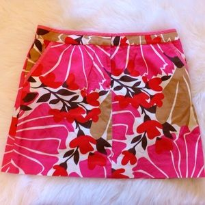 J. Crew Dresses & Skirts - J. Crew canvas pink flower print mini skirt