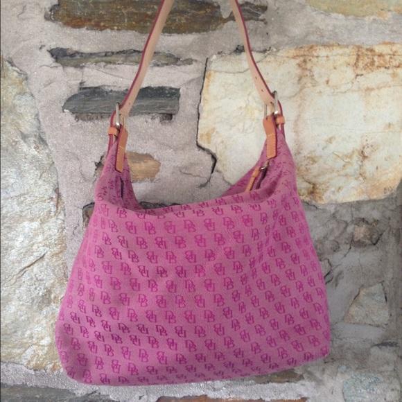 Dooney & Bourke pink signature zipper tote