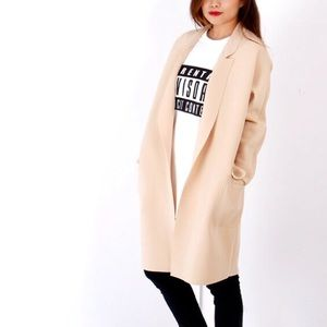 Boutique Outerwear - Blush Beige Foam Coat